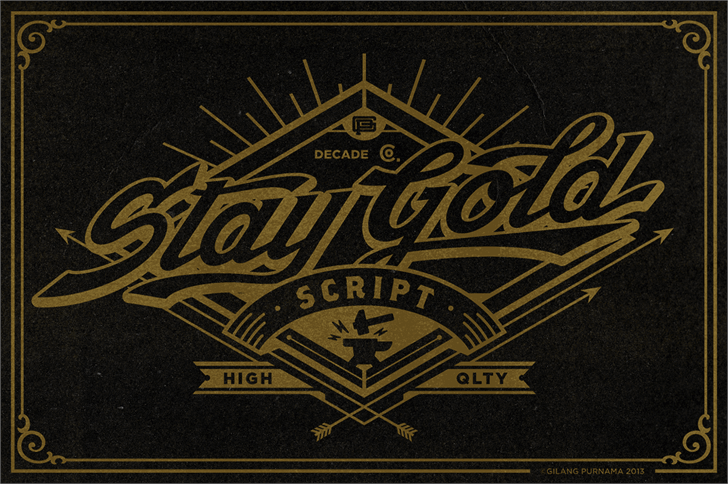 Stay Gold #font by Decade #Type #Foundry #FREEFONT | Typoblur2 ven