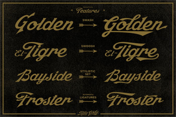 Stay Gold #font by Decade Type Foundry