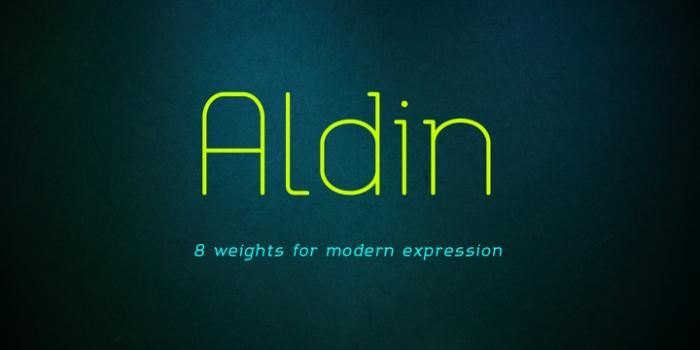 Aldin by Ryan Lyse & Dathan Boardman #FreeFonts