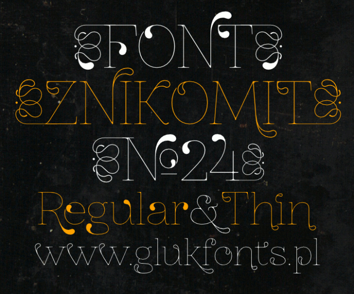 ZnikomitNo24  by #gluk #FreeFonts
