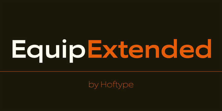 EquipExtended Light by #Hoftype #FreeFonts #typography