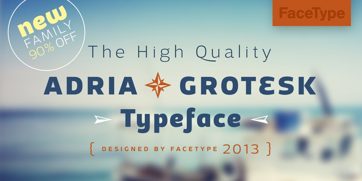 Adria Grotesk by FaceType #FreeFonts #typography