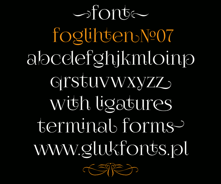 FoglihtenNo07 by #gluk #FreeFonts