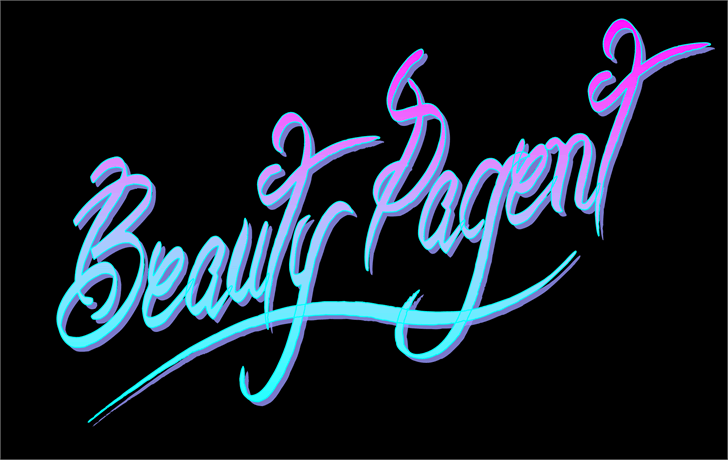 Beauty Pagent by Jonathan S. Harris #FreeFonts